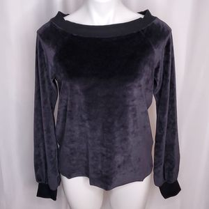 Nation LTD velvet off shoulder raglan sweater sz S